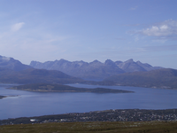 View over Tromsø to Northern Kvaløy