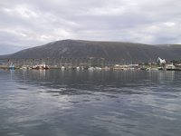 A view from Tromsø quay over to Tromsdalen