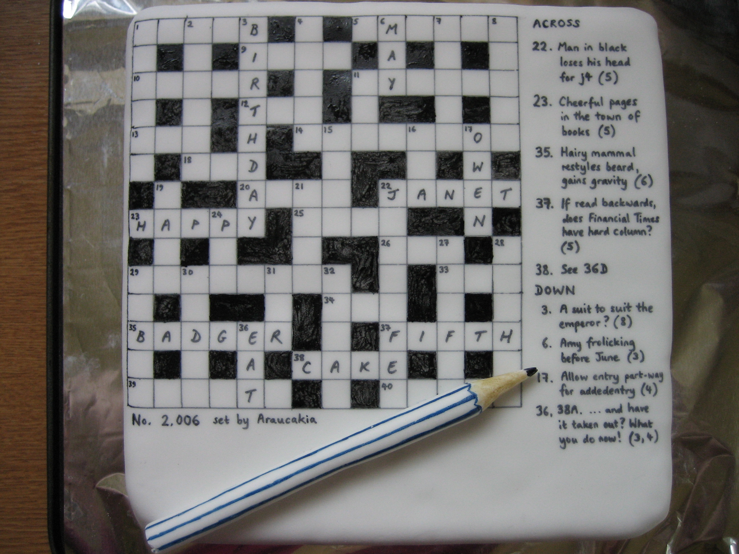 Small Sponge Cake Crossword