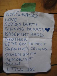 picture of The Organ's setlist